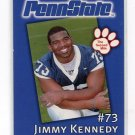 JIMMY KENNEDY 2002 Penn State Second Mile College Card RAMS DT