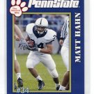 MATT HAHN 2005 Penn State Second Mile College Card RB