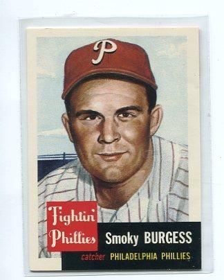 SMOKY BURGESS 1991 Topps Archives 1953 Ultimate Series #10 Philadelphia Phillies