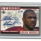 ADRIAN MURRELL 1999 Upper Deck INKredible AUTO Hawaii Leilehua HS Cardinals JETS West Viringia