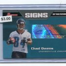 CHAD OWENS 2005 Bowman ROOKIE AUTO AUTOGRAPH Jaguars HAWAII WARRIORS