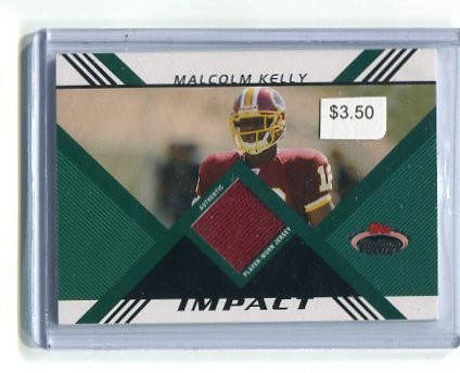 MALCOLM KELLY 2008 Topps STadium Club JERSEY Redskins OKLAHOMA SOONERS Rookie #d/1349