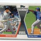 BUSTER POSEY / NEFTALI FELIZ 2011 Topps Diamond Duos INSERT #DD-17
