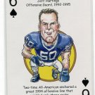 JEFF HARTINGS 2008 Penn State Hero Decks Playing Card STEELERS OG 1992-95