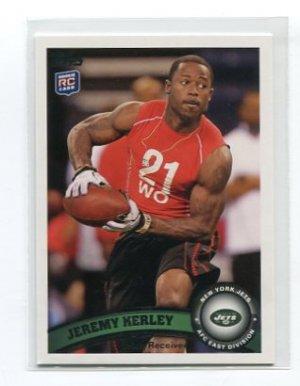 JEREMY KERLEY 2011 Topps #95 ROOKIE New York NY Jets TCU WR