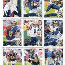 (10) St. Louis RAMS 2011 Topps Team Lot NO DUPES