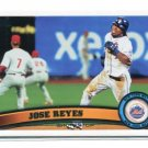 JOSE REYES 2011 Topps Series 2 #380 New York NY Mets