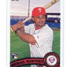 MICHAEL MARTINEZ 2011 Topps Series 2 #524 ROOKIE Philadelphia Phillies