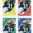 (4) AL HARRIS 2007 Uno Card Game Lot ALL 4 COLORS Green Bay GB Packers