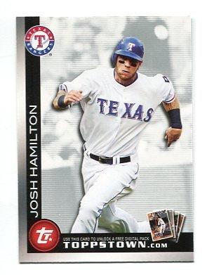 JOSH HAMILTON 2010 Topps ToppsTown INSERT #TTT7 Texas Rangers
