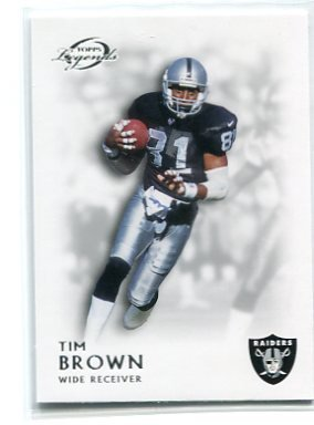 TIM BROWN 2011 Topps Gridiron Legends #145 Raiders NOTRE DAME Heisman