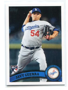 JAVY GUERRA 2011 Topps Update Series #US262 ROOKIE Dodgers