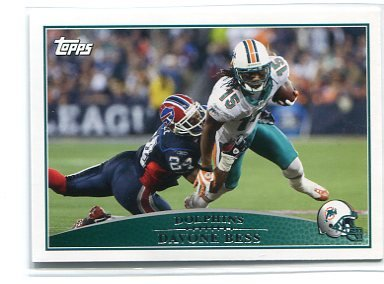 DAVONE BESS 2009 Topps #62 Miami Dolphins HAWAII Warriors
