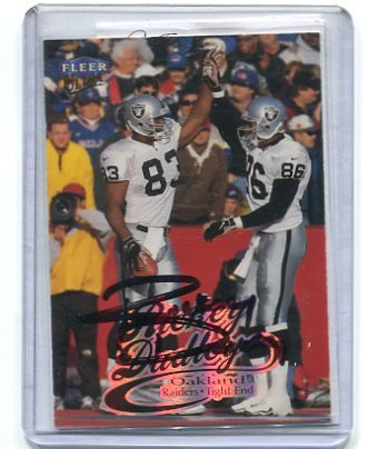 RICKEY DUDLEY 1999 Fleer Ultra #203 AUTO Raiders OHIO STATE Buckeyes w/ COA