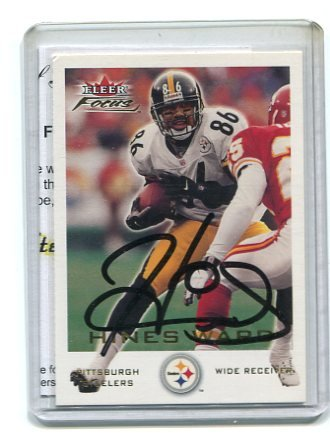 HINES WARD 2000 Fleer Focus #140 AUTO Steelers GEORGIA Bulldogs w/ COA