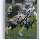 SHAWN SPRINGS 1999 Topps Stadium Club #36 AUTO Seahawks OHIO STATE Buckeyes w/ COA