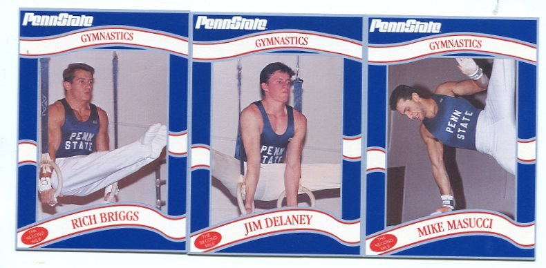 (3) Men's Gymnastics 1992 Penn State Second Mile Lot