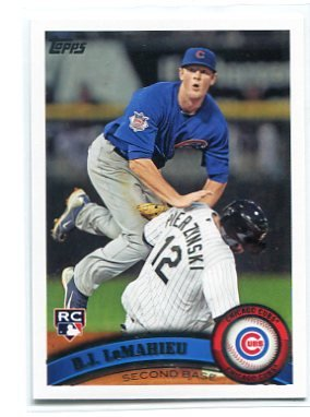 D.J. DJ LeMAHIEU 2011 Topps Update Series #US205 ROOKIE Chicago Cubs