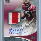MICHAEL ROBINSON 2006 SP Authentic AUTO 2-color Jersey ROOKIE #250 Penn State 49ers #d/999