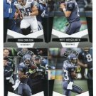 (4) Seattle SEAHAWKS 2010 Panini Leaf Certified Team Lot NO DUPES