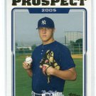PHIL HUGHES 2005 Topps Updates & Highlights #UH99 ROOKIE New York NY Yankees
