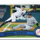 RUSS RUSSELL MARTIN 2011 Topps Update Series #US320 NEW YORK NY Yankees