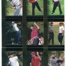 (9) TIGER WOODS 2001 Upper Deck UD Tiger's Tales ROOKIE LOT 1