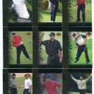 (9) TIGER WOODS 2001 Upper Deck UD Tiger's Tales ROOKIE LOT 3