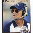 COACH MARTY SCHOTTENHEIMER 2007 Big 33 Ohio High School card Honorary Chairman PITT Panthers