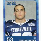 JUSTIN HASER 2011 Big 33 PA High School card U of OHIO DT