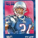 TY LAW 2011 Big 33 PA High School Honorary Chairman card PATRIOTS Michigan WOLVERINES