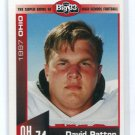DAVID PATTON 1997 Big 33 High School card Univ. of OHIO OT / DT