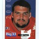 ANDY CAPPER 2000 Big 33 High School card MIAMI of OHIO RB