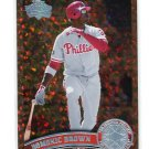 DOMONIC DOMINIC BROWN 2011 Topps COGNAC DIAMOND SPARKLE SP Variation #421 Philadelphia Phillies
