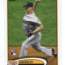 JARED HUGHES 2012 Topps #175 ROOKIE Pittsburgh Pirates