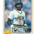 RICKEY HENDERSON 1983 Fleer Super Star Special The Silver Shoe #639 Oakland A's