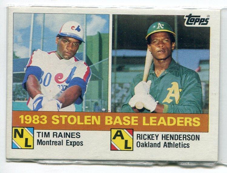 RICKEY HENDERSON / TIM RAINES 1984 Topps LL #134 Oakland A's