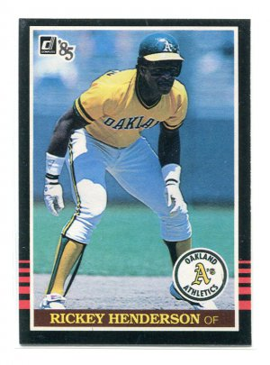 RICKEY HENDERSON 1985 Donruss #176 Oakland A's