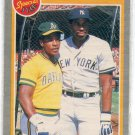RICKEY HENDERSON / DAVE WINFIELD 1985 Fleer Super Star Special Pitcher's Nightmare #629 Oakland A's