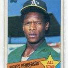 RICKEY HENDERSON 1985 Topps All-Star #706 Oakland A's