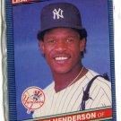 RICKEY HENDERSON 1986 Leaf #37 New York NY Yankees