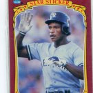RICKEY HENDERSON 1986 Fleer Star Sticker #53 New York NY Yankees
