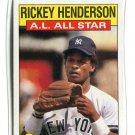 RICKEY HENDERSON 1986 Topps All-Star #716 New York NY Yankees