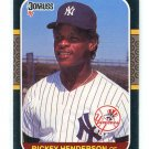 RICKEY HENDERSON 1987 Donruss #228 New York NY Yankees
