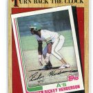 RICKEY HENDERSON 1987 Topps TBC #311 New York NY Yankees