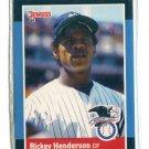 RICKEY HENDERSON 1988 Donruss All-Star #4 New York NY Yankees