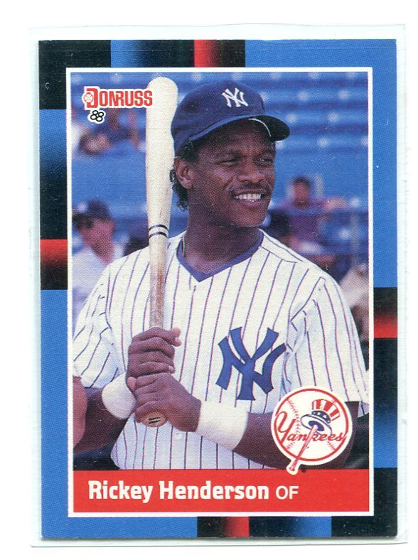 RICKEY HENDERSON 1988 Donruss #277 New York NY Yankees