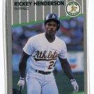 RICKEY HENDERSON 1989 Fleer Update #U-54 Oakland A's