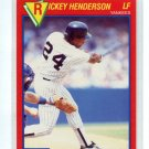 RICKEY HENDERSON 1989 Score Superstar #45 New York NY Yankees