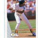 RICKEY HENDERSON 1990 Leaf #160 Oakland A's